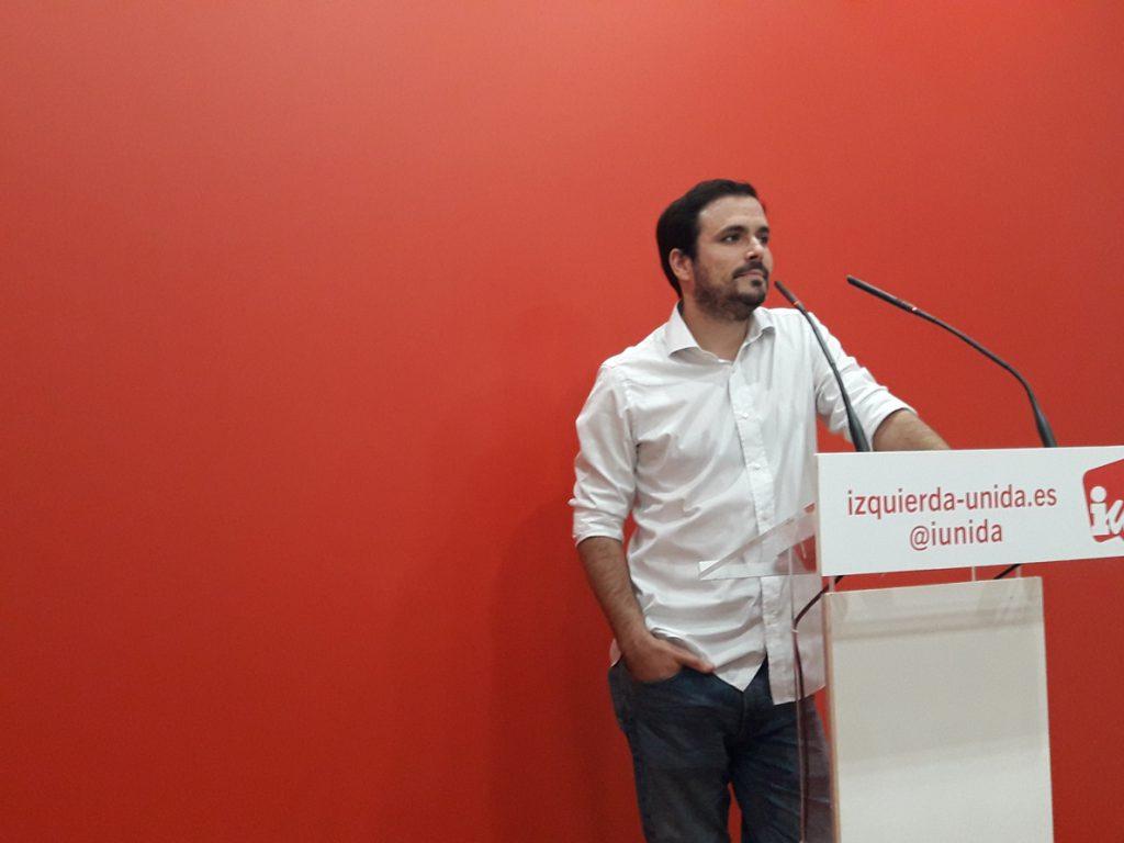 IU rechaza la vía «represiva» contra el independentismo catalán y cree «cuestionables» las decisiones del Supremo