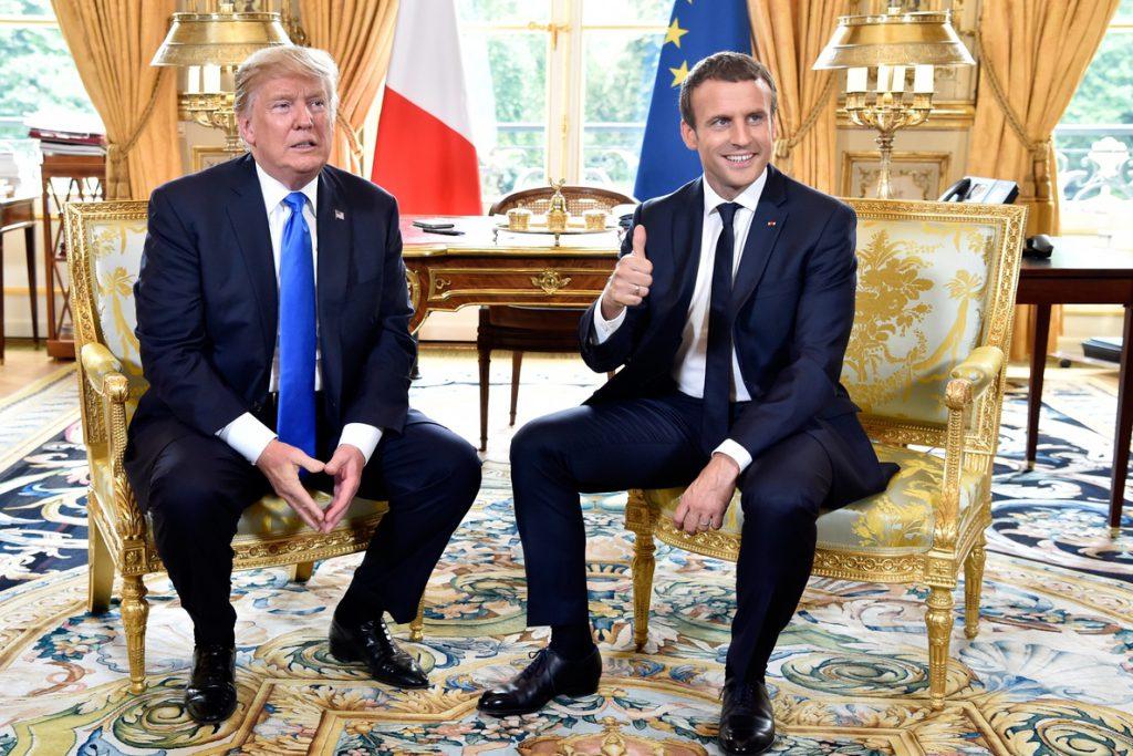 Trump habla con Macron y Merkel de las medidas contra Rusia y los aranceles a China