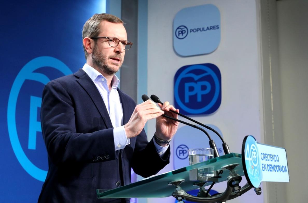 El PP acusa al PNV de «chantajear al Gobierno» y pide al PSOE «cinco votos al azar»