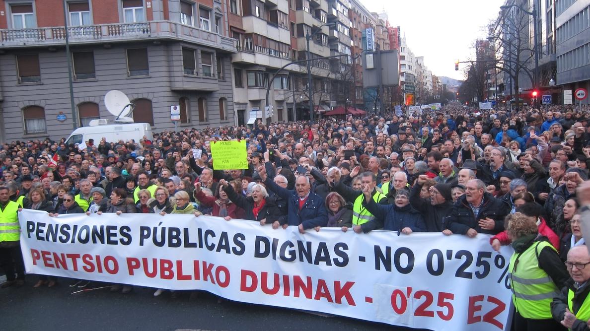 CC.OO. y UGT convocan hoy manifestaciones por las pensiones «dignas»