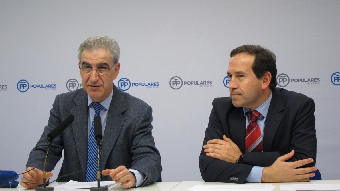 PP dice que los vascos tienen «mucho que perder» si no hay presupuestos y pide que su «interés no lo marque Puigdemont»