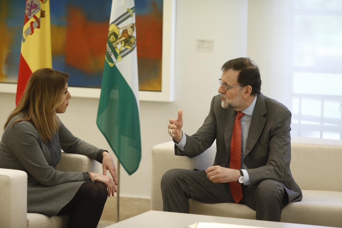 (Ampl.) Rajoy convocará el CPFF sobre financiación autonómica «de manera inminente», según Susana Díaz