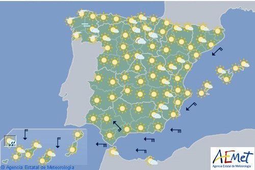 Hoy, tiempo estable con vientos fuertes en Estrecho e interior de Cádiz