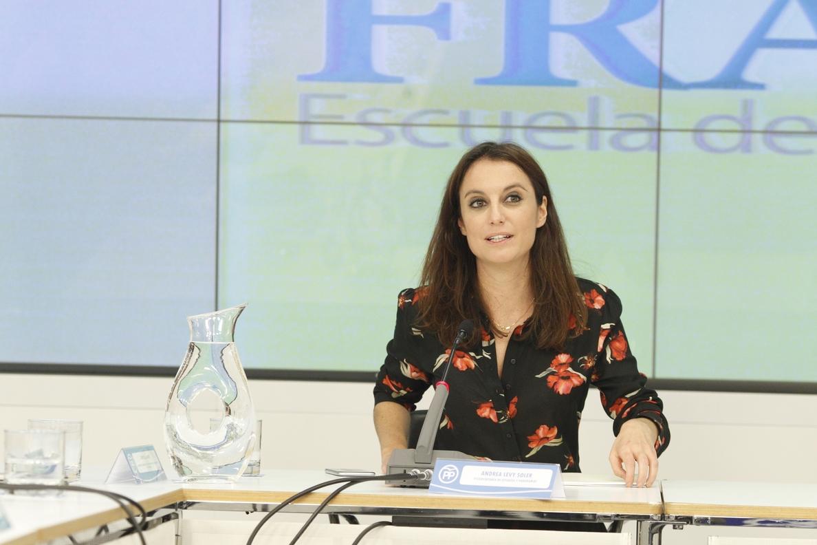 Levy (PP) insta a «verificar» que la Generalitat «no engañó al Gobierno» con la financiación del »procés»