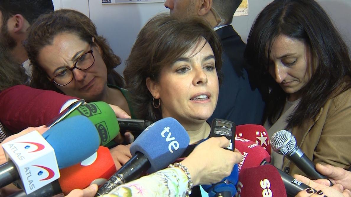 Santamaría dice, ante el caso Cifuentes, que hay que trabajar por la estabilidad en Madrid, una «institución importante