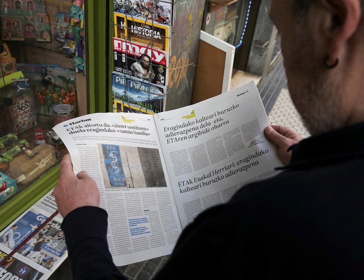 La CE, sobre el anuncio de ETA: «No hay lugar para el terrorismo en la UE»