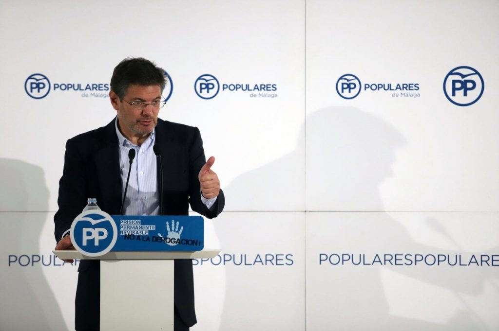 Catalá siente «vergüenza» de que PSOE y Cs opinen contrario a sus representados en cuanto a la prisión permanente