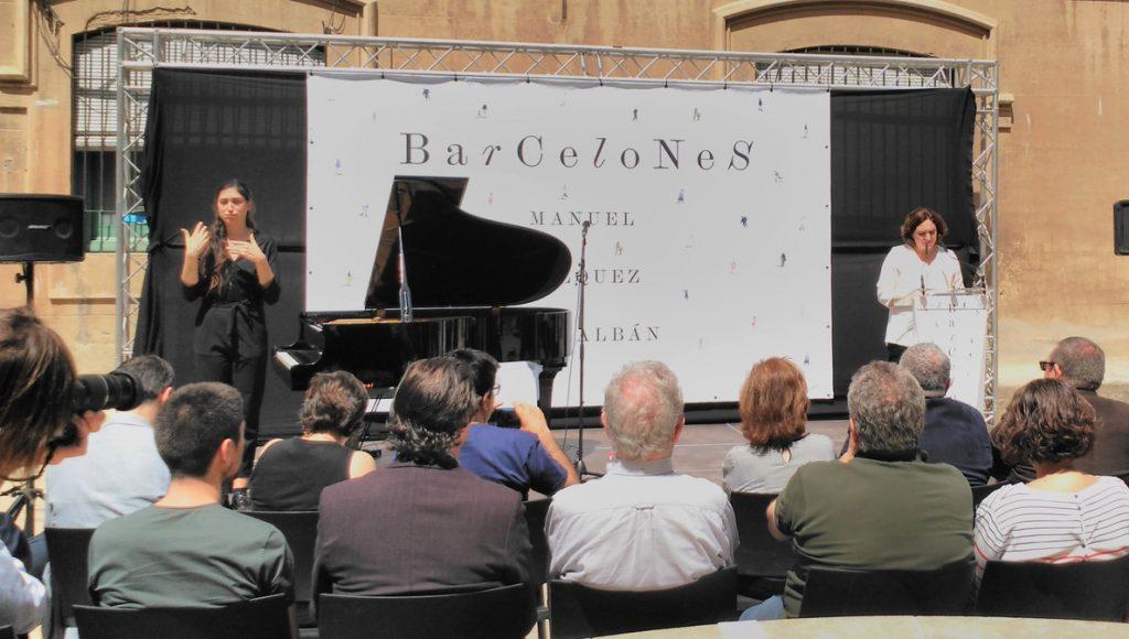 Colau enviará la nueva edición de 'Barcelones' de Vázquez Montalbán a los presos independentistas