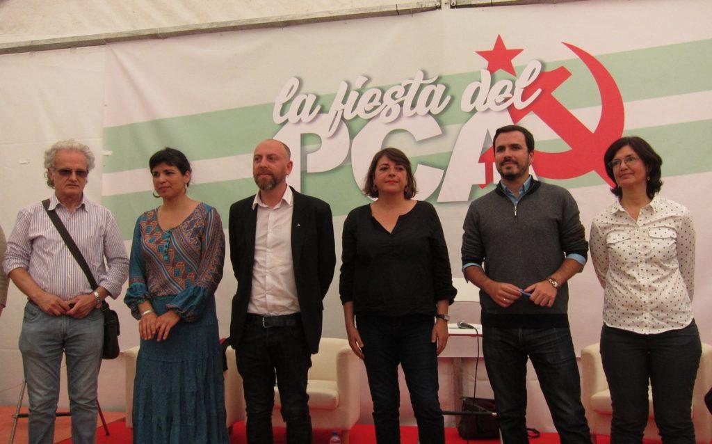 Garzón (IU) confía en que Andalucía sea «uno de los motores» de la construcción del proyecto de «unidad popular»