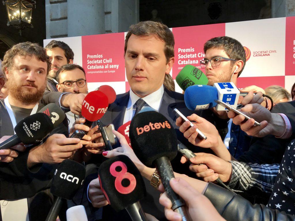 Rivera cree que ir elecciones sería «culpa del separatismo» y pide un Govern que cumpla la ley