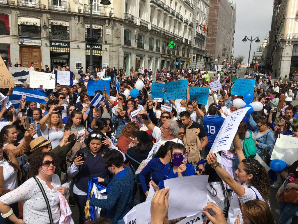 El embajador en Nicaragua estuvo pendiente de las protestas y volvió a su puesto el domingo, según Exteriores