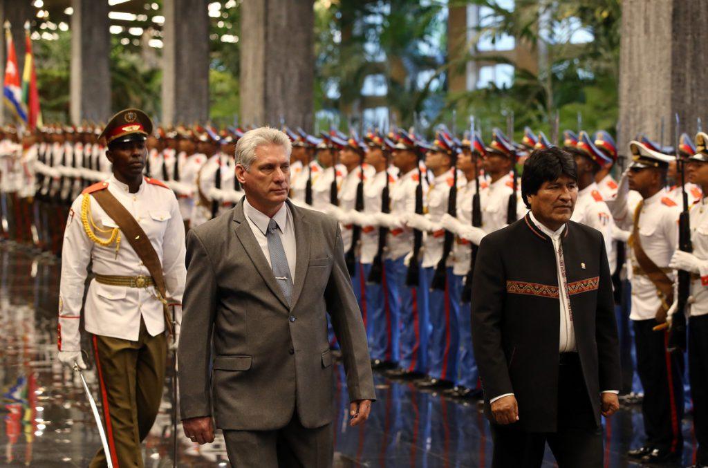 El nuevo presidente cubano se reúne con Evo Morales en La Habana