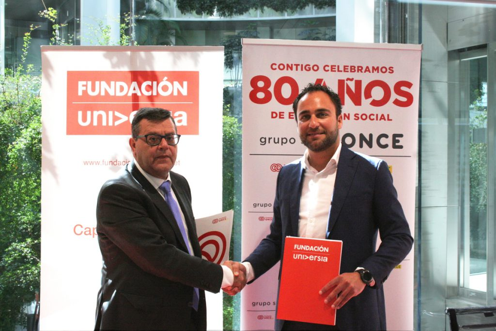 Banco Santander firma un acuerdo de colaboración con las Fundaciones Universia y ONCE por la educación inclusiva
