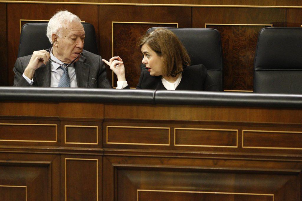 Margallo ve a Santamaría como candidata en Madrid y dice que gobernar una CCAA es una credencial en sucesión de Rajoy