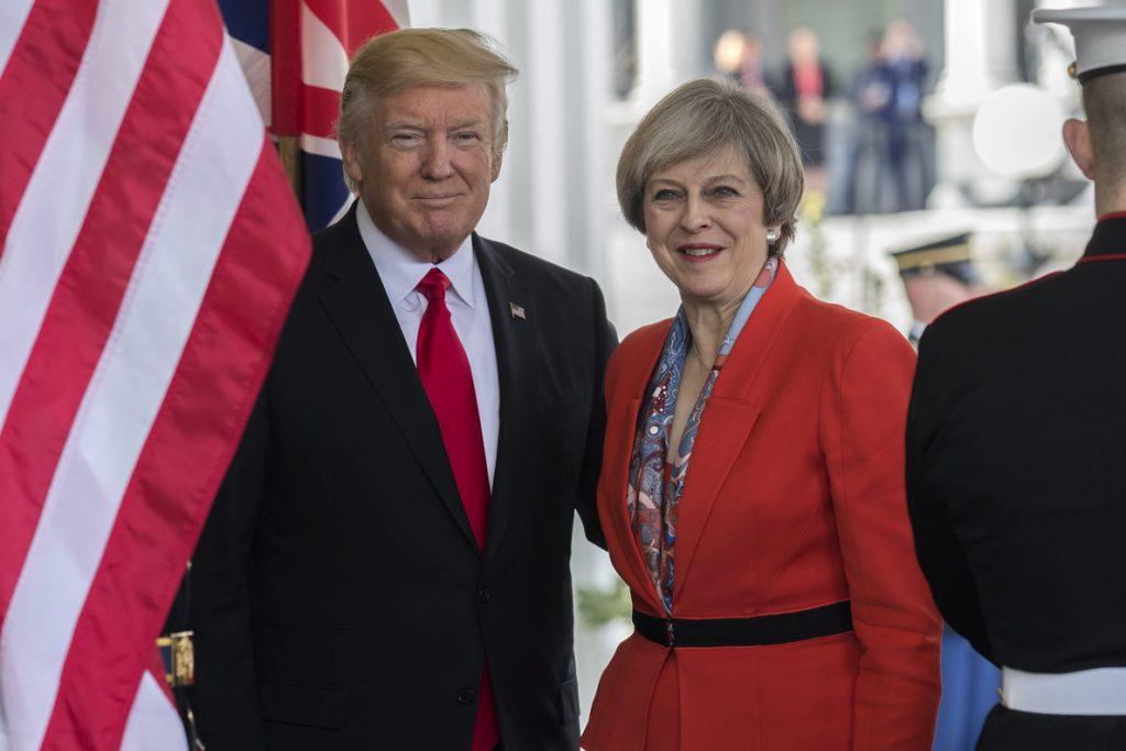 Trump visitará el Reino Unido el 13 de julio para reunirse con Theresa May
