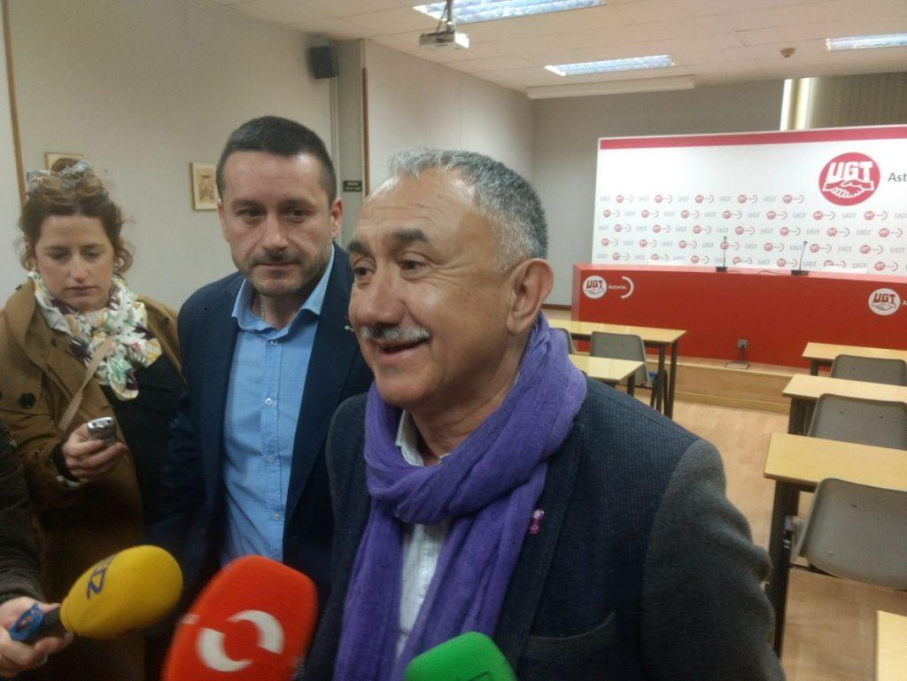 Álvarez (UGT) afirma que el objetivo no es la huelga general «sino recuperar derechos»