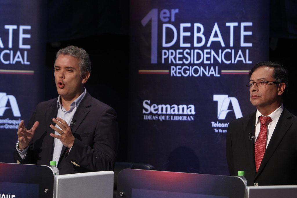 Duque y Petro se consolidan en vanguardia a un mes de las elecciones colombianas