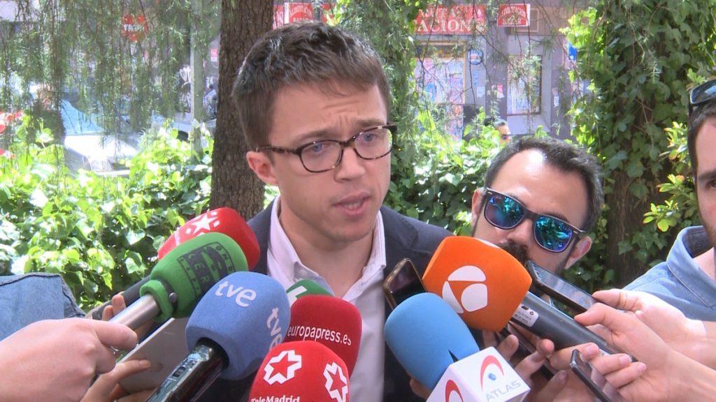 Errejón busca crear un «gabinete técnico provisional» en la Comunidad que organice unas elecciones «limpias» en 2019
