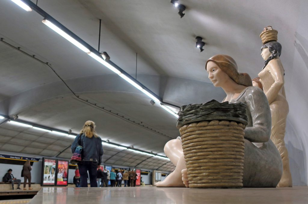 El Metro de Lisboa presume de arte para celebrar su 70 aniversario