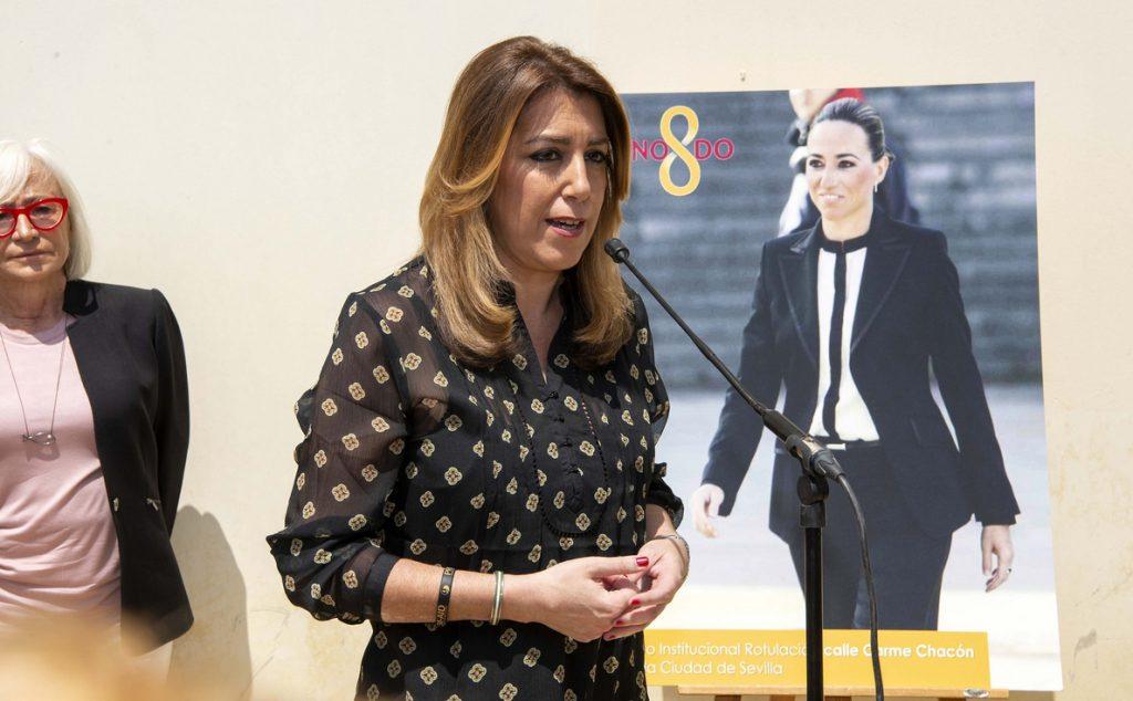 Susana Díaz valora que una mujer militar esté por primera vez «al mando de una unidad operativa en zona de conflicto»