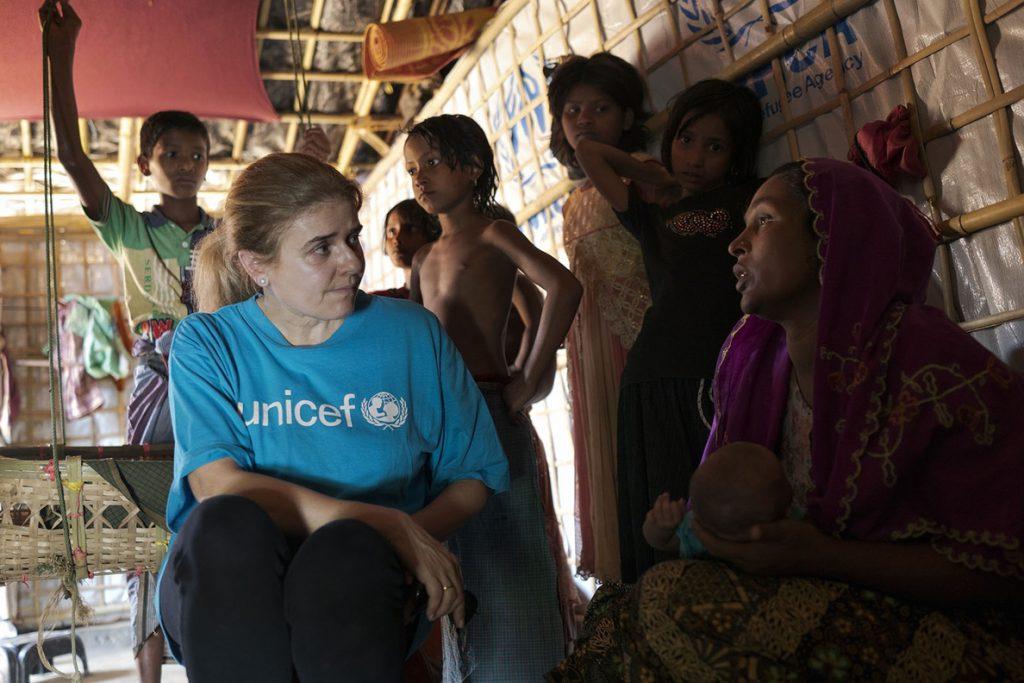 UNICEF lucha contrarreloj en Bangladesh ante la llegada del monzón al mayor campo de refugiados del mundo