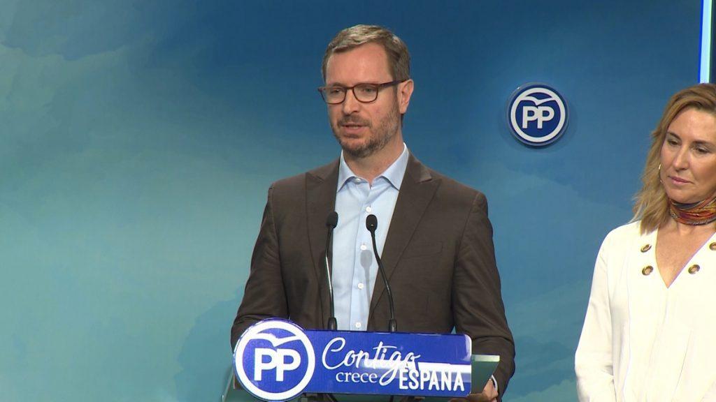 Maroto (PP) rechaza que PSOE lidere en la Comunidad de Madrid «un proyecto basado en la presión al otro y el no es no»