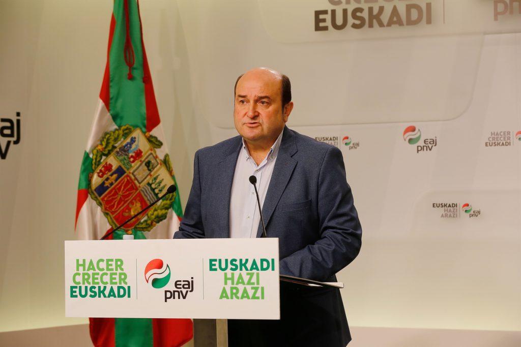 PNV cree que su acuerdo con PP evita «el desastre en Madrid» porque un adelanto electoral «sólo beneficia» a Cs