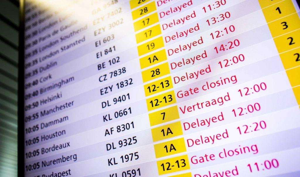 Vuelos cancelados y retrasados por un corte eléctrico en el aeropuerto de Amsterdam