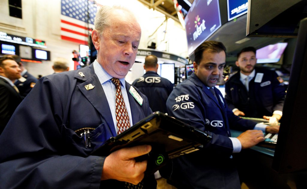 Wall Street en rojo a media sesión y el Dow Jones pierde un 1,07 %