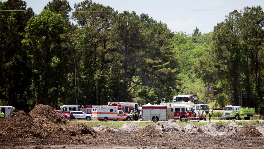 Un avión militar de EE.UU. se estrella en las afueras de Savannah, Georgia