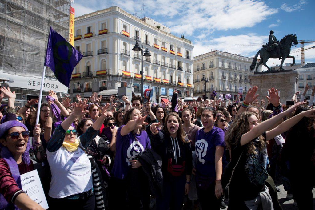 Protestas por la sentencia de la Manada llegan al Dos de Mayo y la Eurocámara