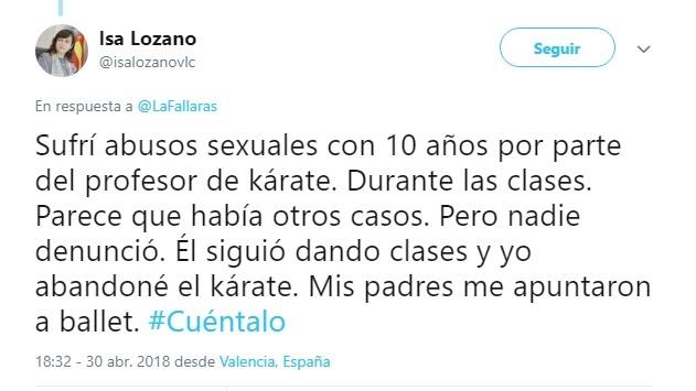 Una concejala de Compromís desvela en la iniciativa #Cuéntalo que sufrió abusos sexuales en su infancia