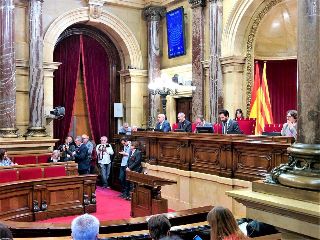 El Parlament catalán rechaza criticar que los sindicatos reclamen la libertad de los presos