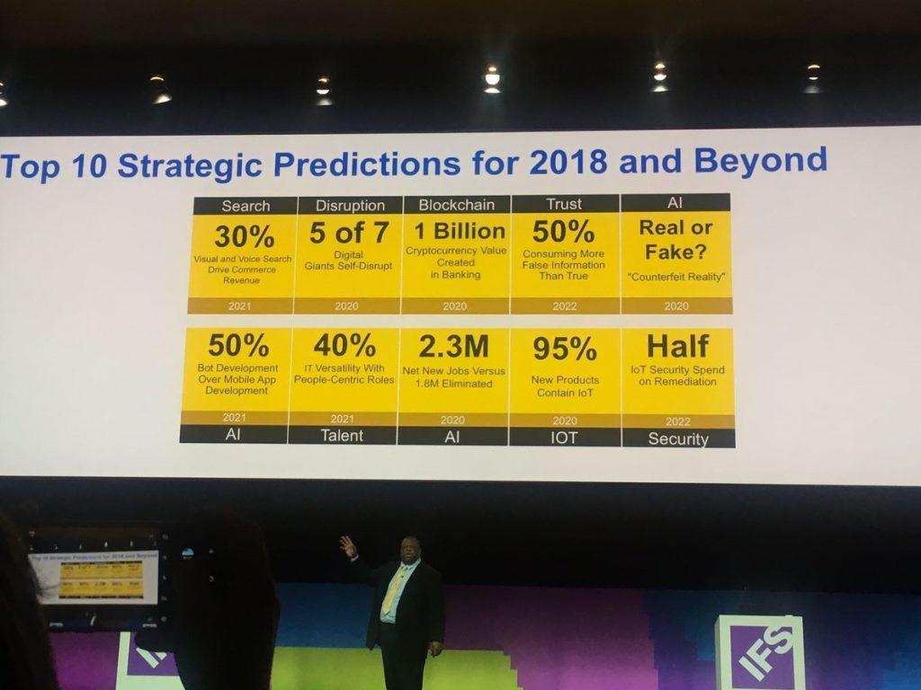 En 2020 el 95% de los productos nuevos contendrán el Internet de las Cosas e IFS está «preparado para ello»