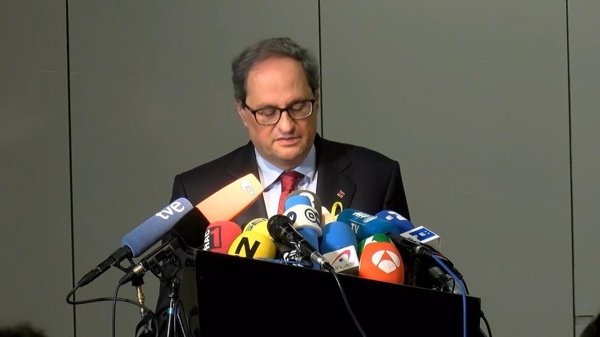 El Gobierno no asistirá a la toma de posesión de Torra