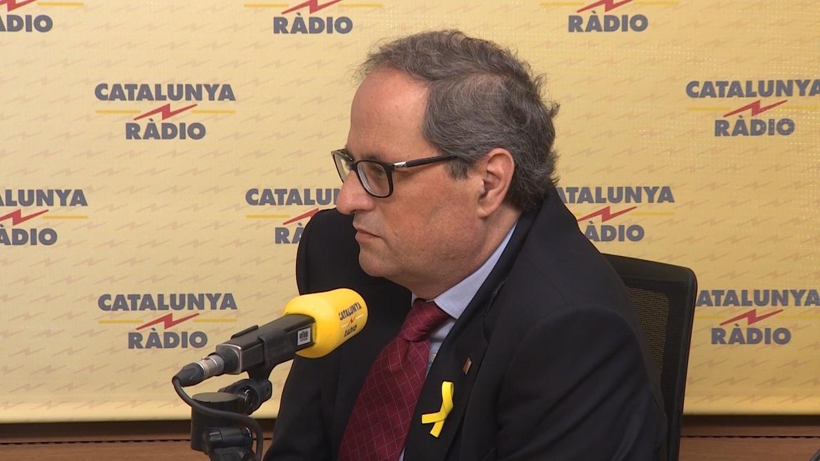 Torra promete como presidente con «fidelidad a la voluntad del pueblo de Cataluña»