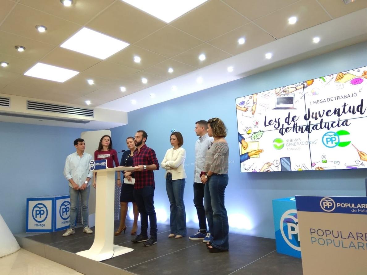 El PP cree que la Ley de Juventud de Andalucía es una «tomadura de pelo» y «no resuelve» los problemas de los jóvenes