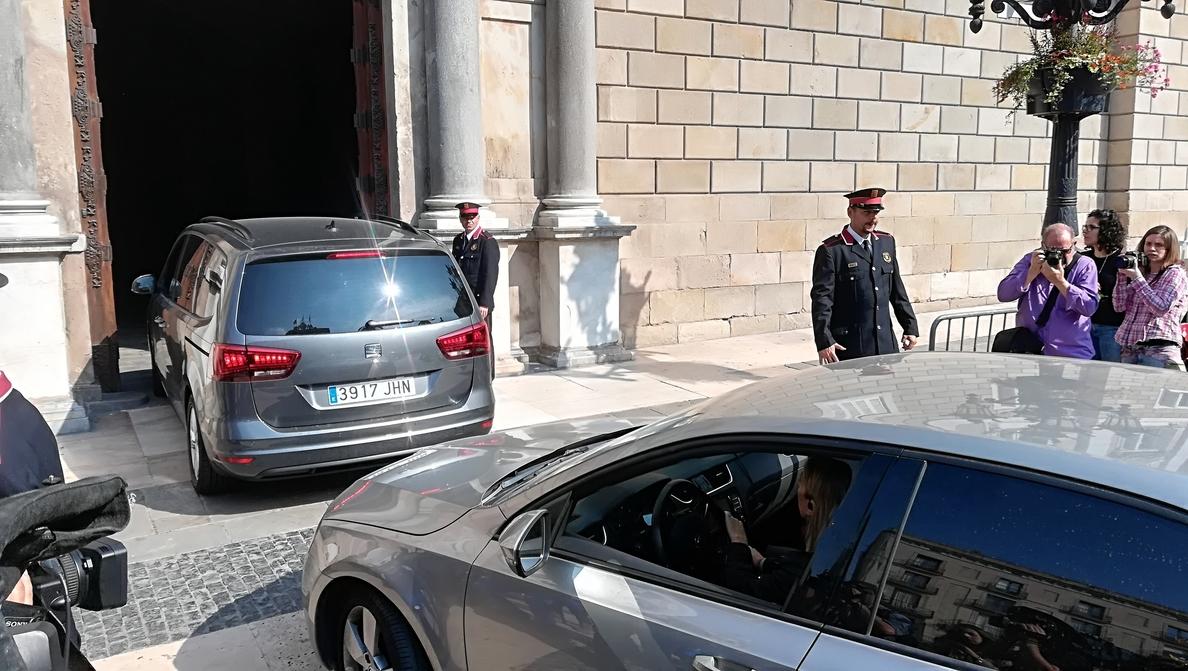 Quim Torra llega al Palau de la Generalitat