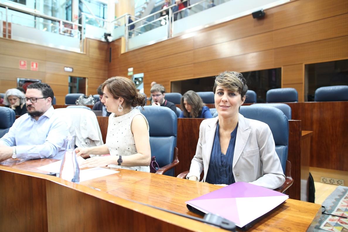 Podemos no apoyará a Garrido porque representa «continuidad» de unas políticas que han generado «desigualdad» y «daño»