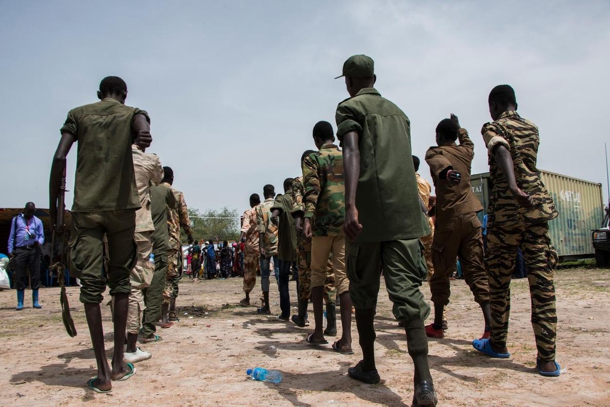Más de 200 niños soldado, liberados por grupos rebeldes en Sudán del Sur
