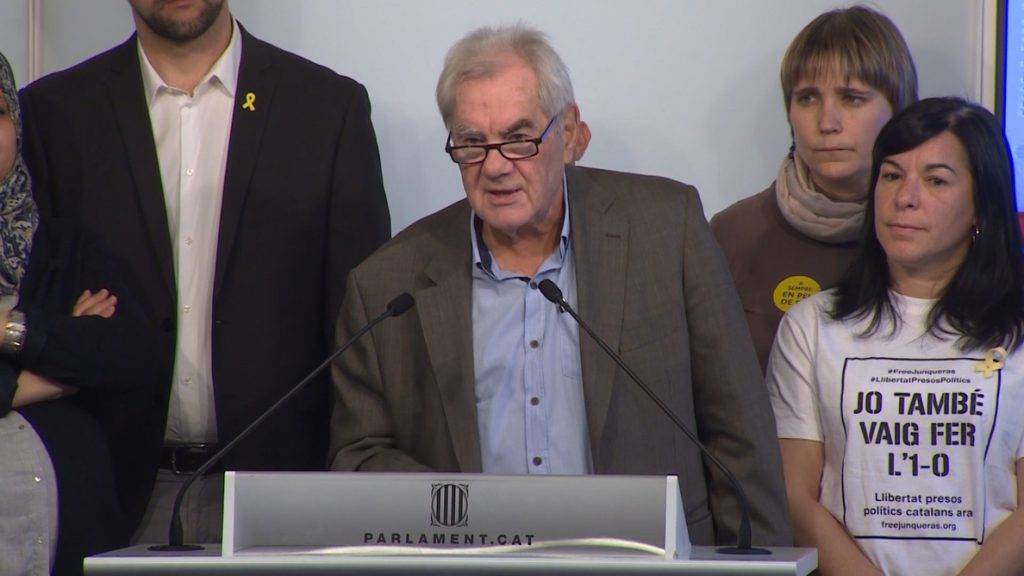 Maragall asume su cargo como un honor y dice que sustituye «provisionalmente» a Romeva