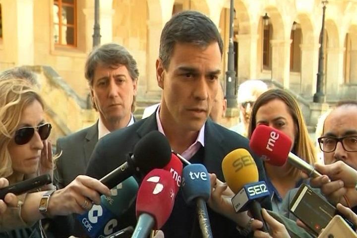 Pedro Sánchez espeta a Torra que su Govern, con dos huidos y dos encarcelados, degrada la Generalitat de Cataluña