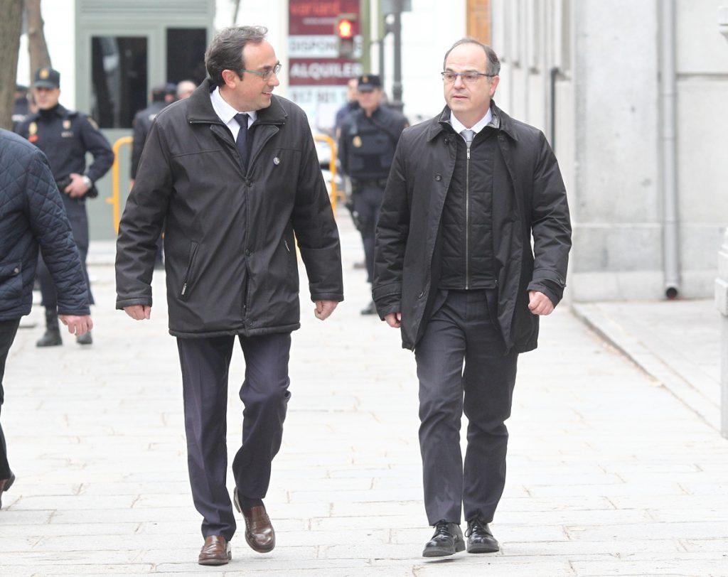 Turull y Rull piden al TS salir de la cárcel para tomar posesión como consellers