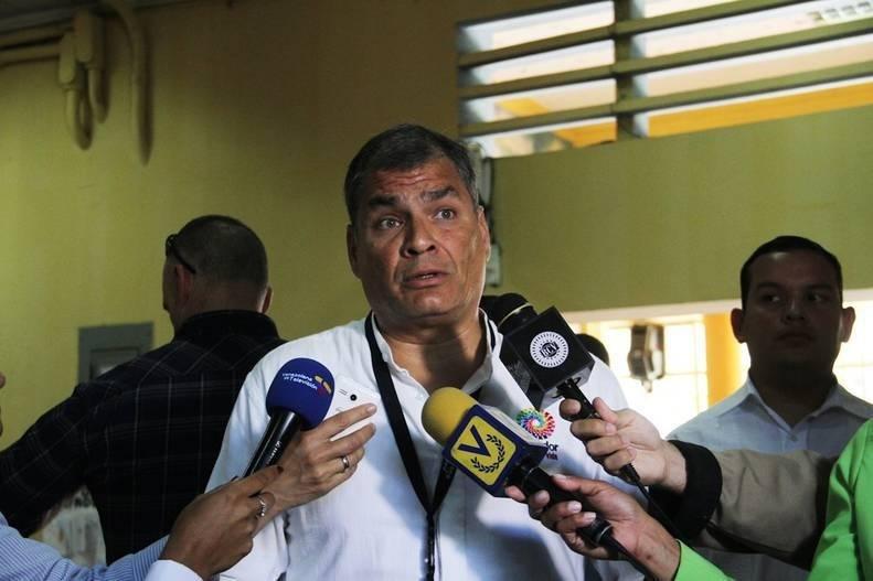 Rafael Correa destaca la «impecable» organización de las presidenciales de Venezuela