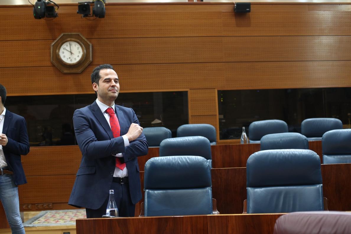 Aguado (Cs) se ausenta de la toma de posesión como presidente regional de Garrido pese a haberle brindado su apoyo
