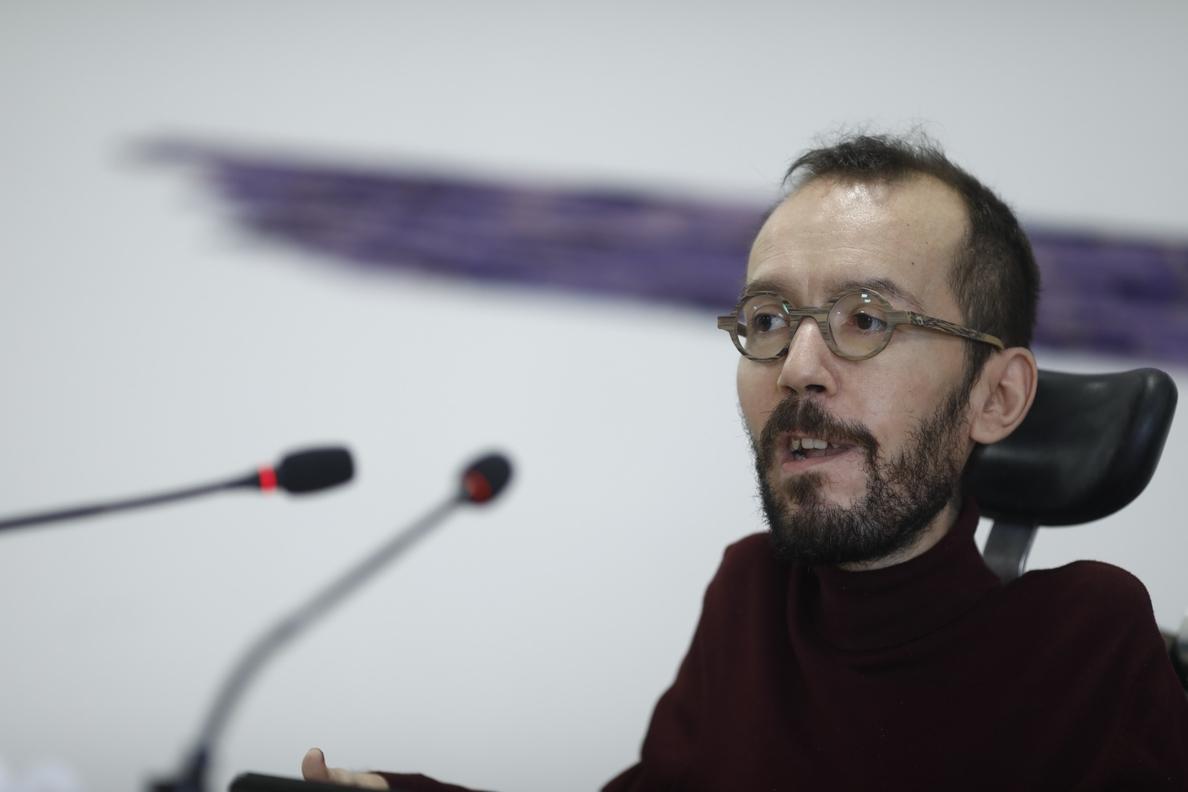 Echenique cree que Iglesias y Montero recibirán el aval de las bases porque «la militancia de Podemos es inteligente»