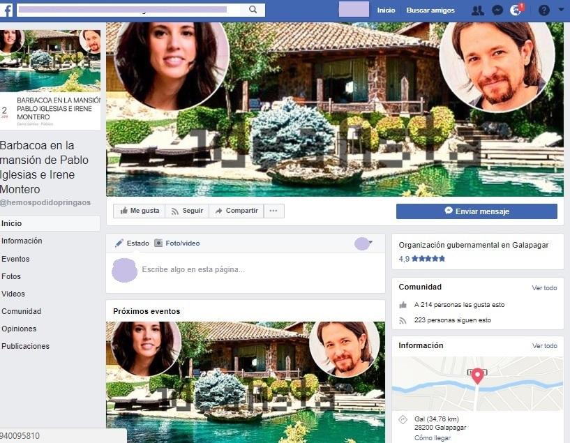 Galapagar traslada a la Guardia Civil convocatorias en Facebook en el chalet de Iglesias ante «posibles aglomeraciones»