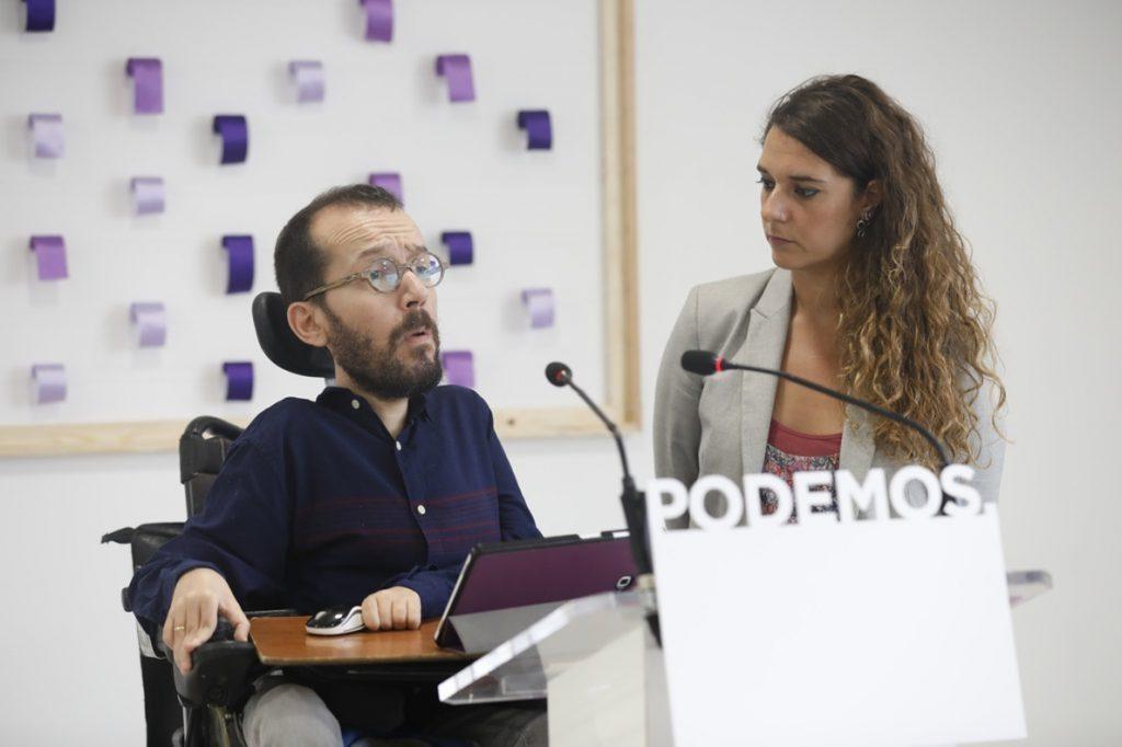 Podemos dice que dejar a sus bases la decisión sobre la dimisión de Iglesias y Montero es hacer «autocrítica»