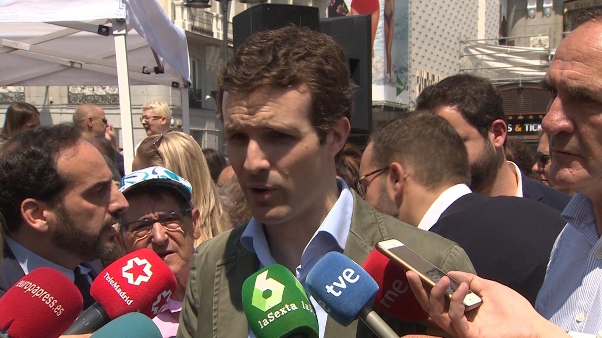 Garrido defiende a Pablo Casado: «Me parece un político extraordinario y un buen candidato para casi cualquier cosa»