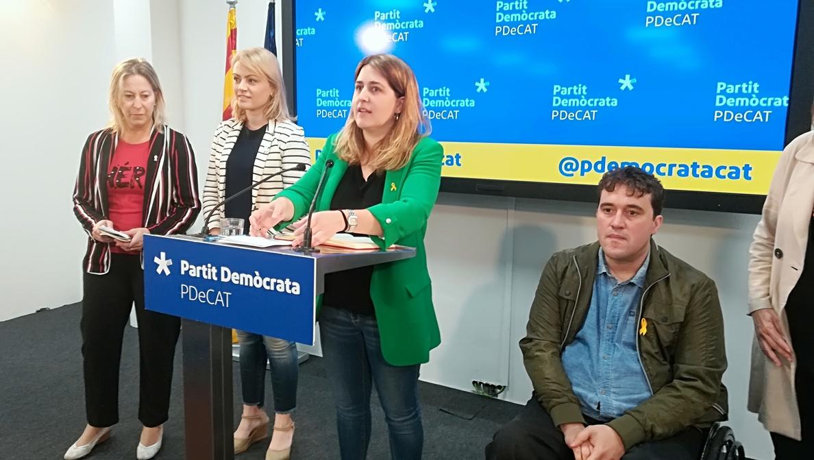 El PDeCAT defiende mantener la restitución de exconsellers pese al rechazo del Gobierno
